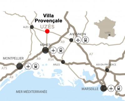 Plan de situation Villa Provençale