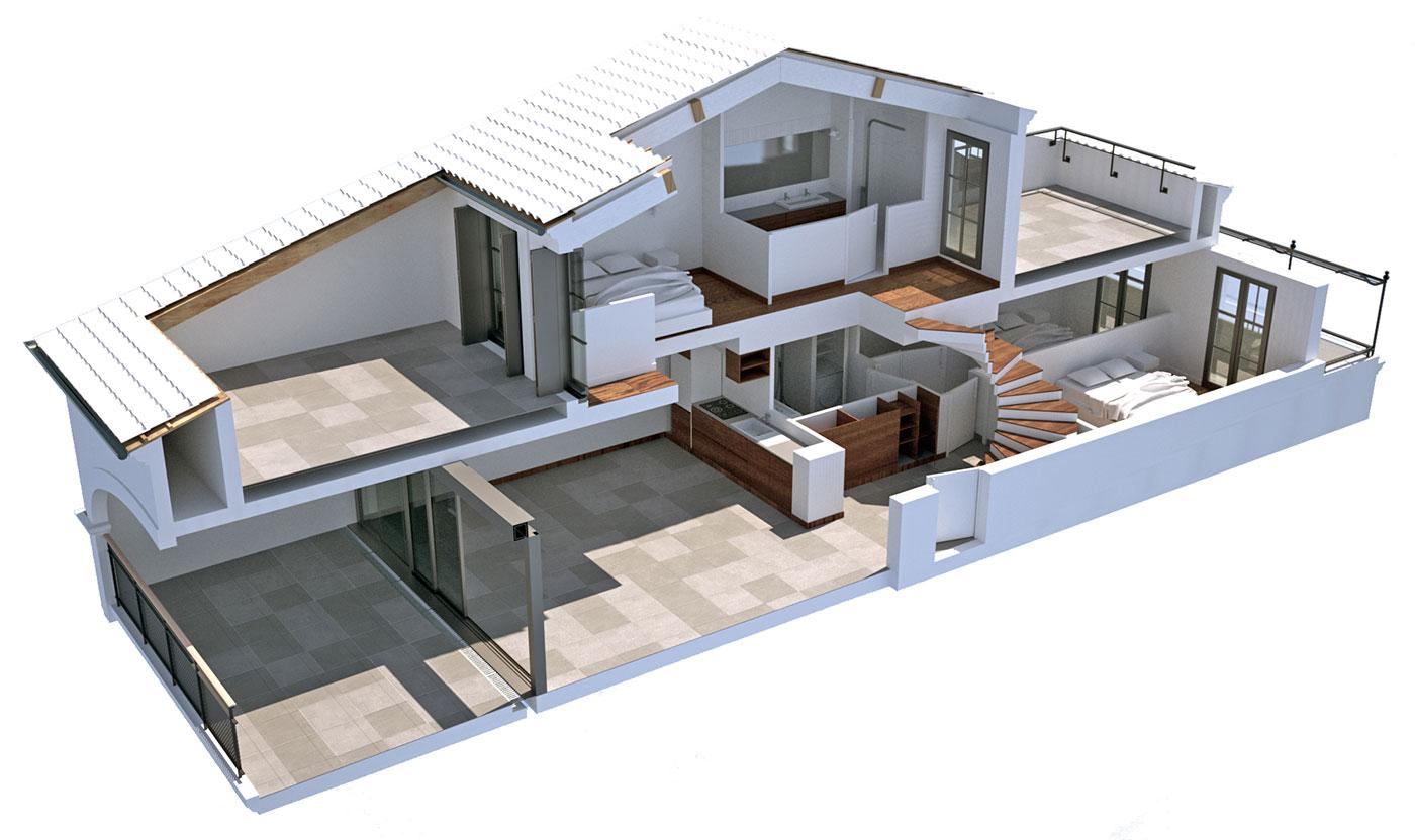 Plan 3D Eclaté