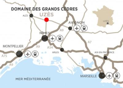 Plan de situation Domaine des Grands Cèdres